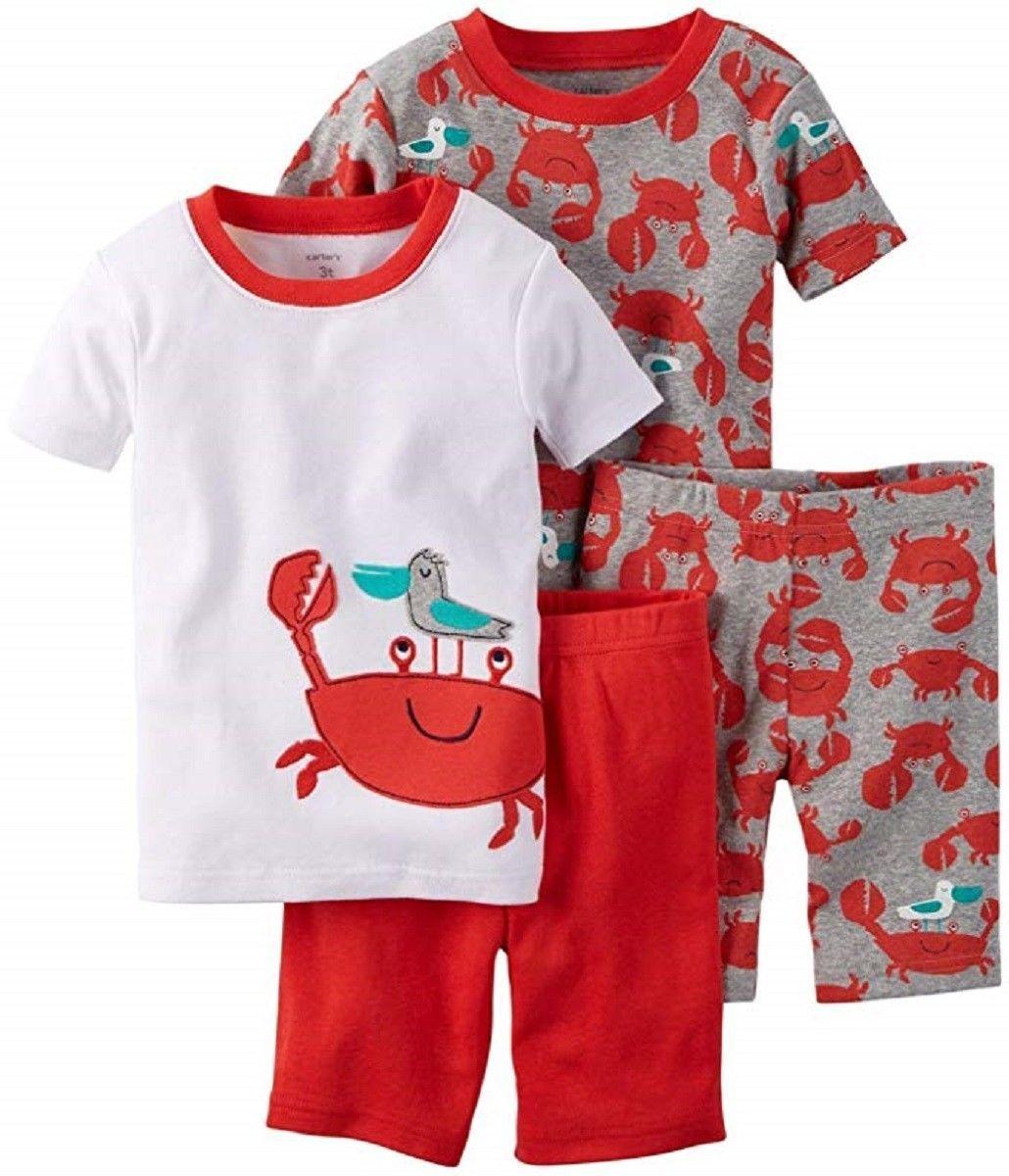 e027581202f6 Sleepwear 147336  Carter S Baby Boys 4-Piece Pajama Set - Crab - 9 ...