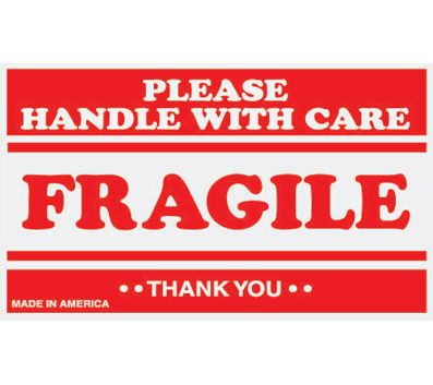 picture about Printable Fragile Label identified as Tape Logic® Preprinted Transport Labels, SCL536, \
