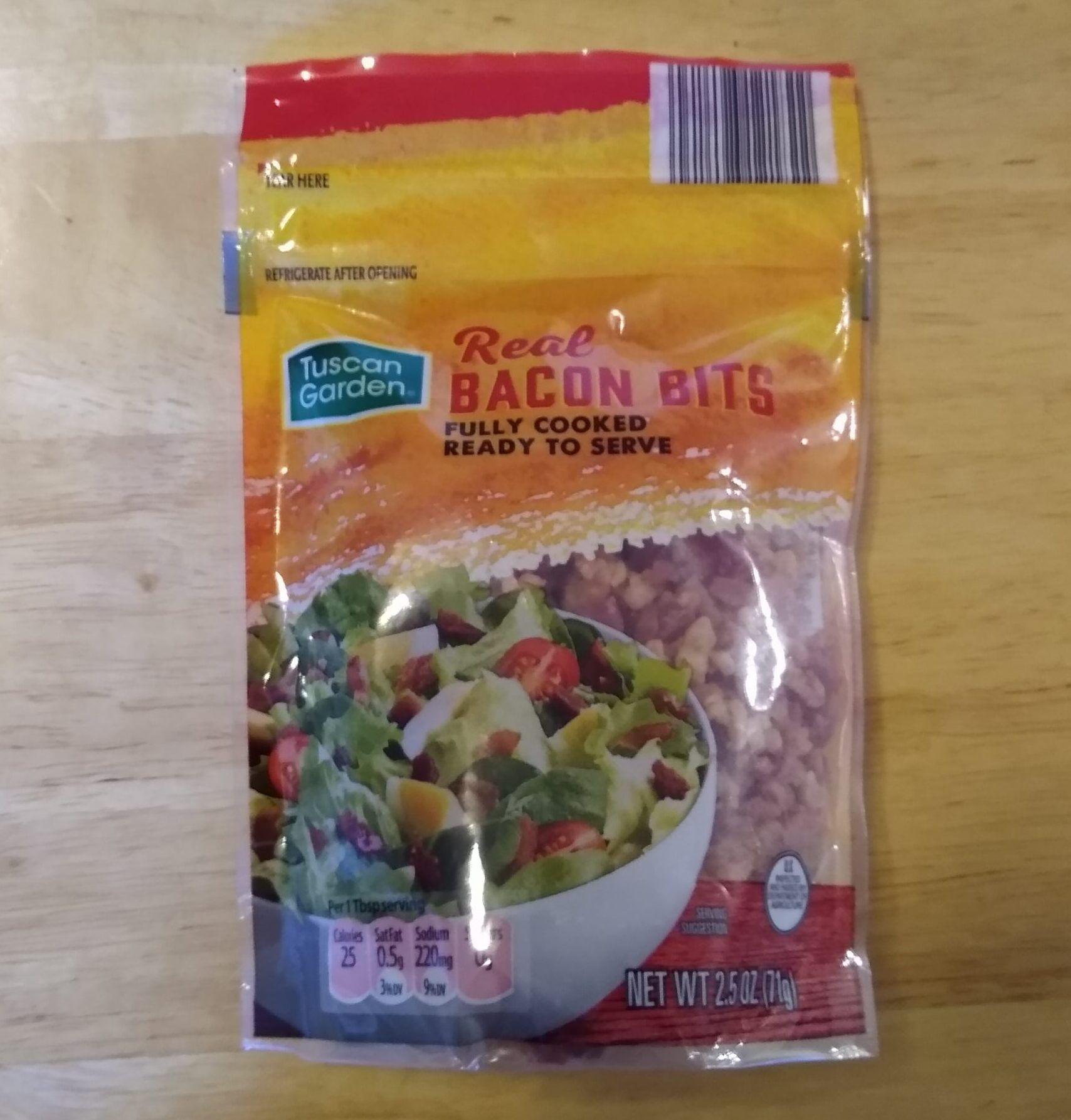 Tuscan Garden Real Bacon Bits Aldi Reviewer Bacon Bits Bacon Artisan Cheese