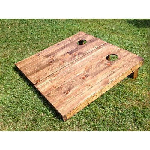 American Furniture Rental Raleigh: 2' X 4' Stained Manufactured Wood Cornhole Board