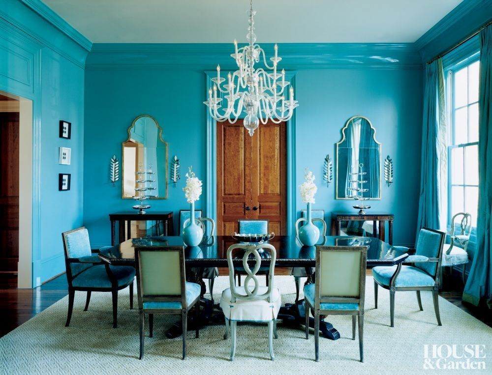 The Dining Room Chairs Cost What Turquoise Dining Room Dining Room Blue Monochromatic Room