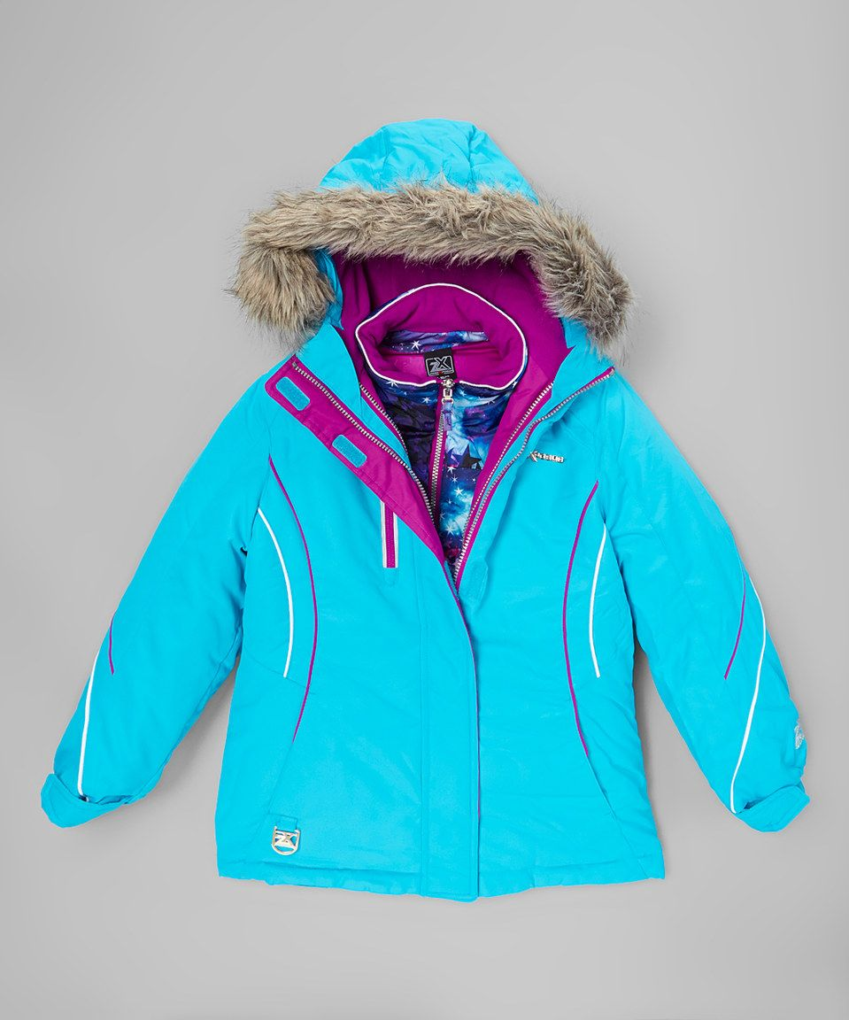 8f6f088d3 ZeroXposur Turquoise Galaxy 3-in-1 Systems Jacket - Girls by ZeroXposur  #zulily #zulilyfinds