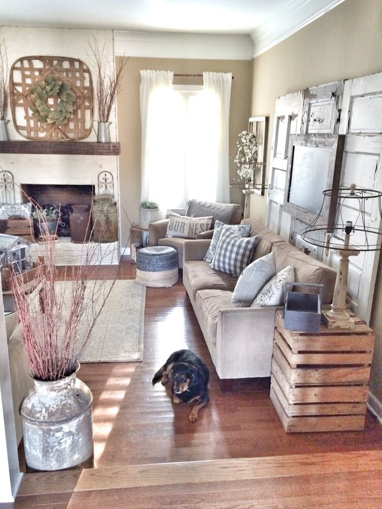 Farmhouse Chic Living Room Decor: Pin By Julie Choquette On A New And Happy Life