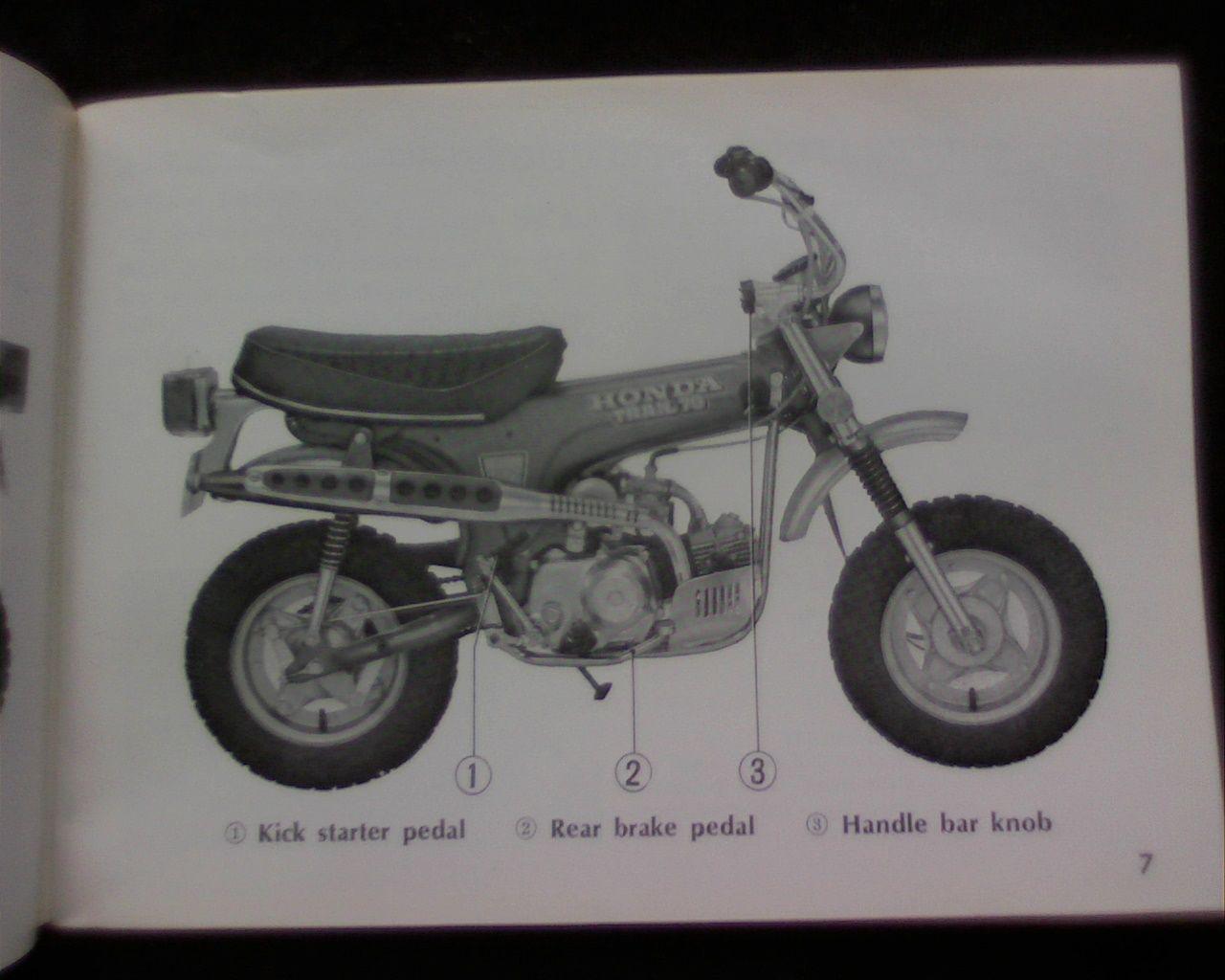 honda ct70 ct 70 mini bike owner manual motocicletas honda 70 cc rh pinterest com au honda motorcycles owner's manual honda motorcycle owners manual download