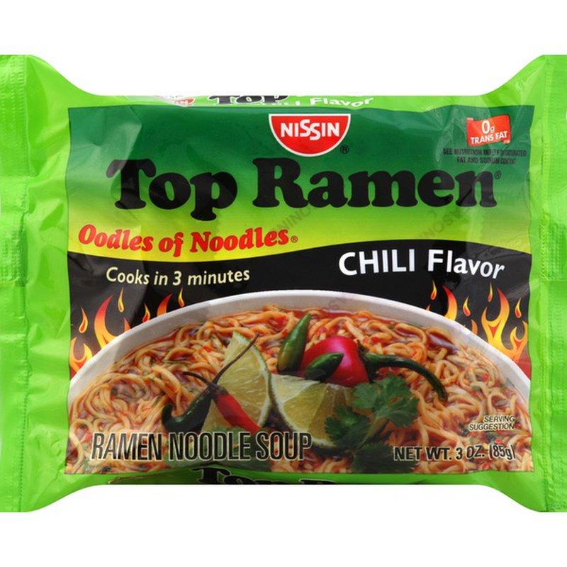 Nissin Top Ramen Noodle Soup Chili Flavor 3 Oz Instacart Ramen Noodles Top Ramen Ramen Noodle Soup