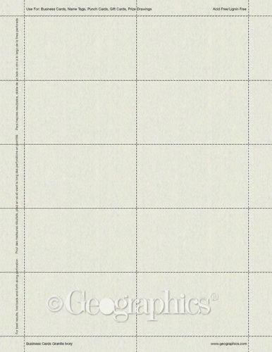 Granite Ivory Business Cards, 2x3.5, 250/PK