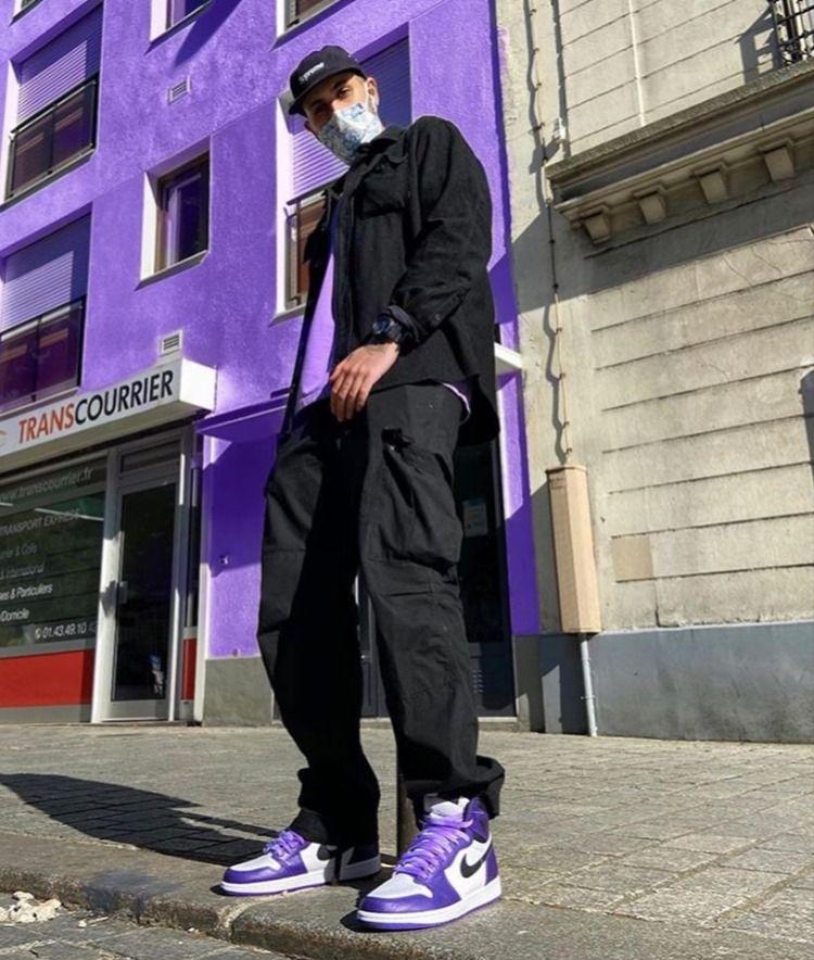 Jordan 1 Retro High Court Purple White - 555088-500 | Street style ...