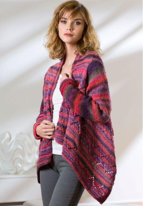 Drape Front Cardigan Free Knit Pattern Pinterest Knit Patterns