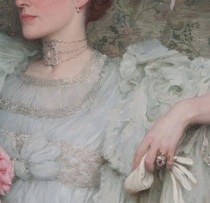 "4,579 Likes, 9 Comments - Paintings Daily (@paintings.daily) on Instagram: ""(Detail)  Sir Francis Dicksee (1853-1928) Portrait of Lady Hillingdon C. 1904 #paintingsdaily #art…"""
