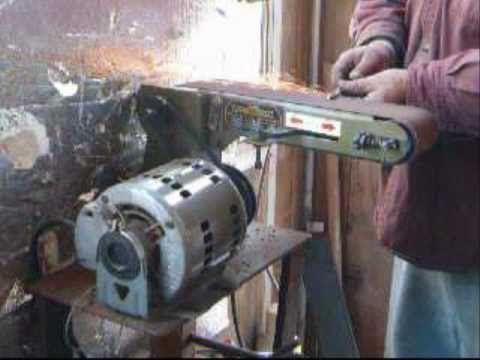 Knife making on a budget tip, Harbor freight Belt Sander to belt Grinder modification