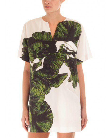 Elle Sasson Goby Leaf Print Dress