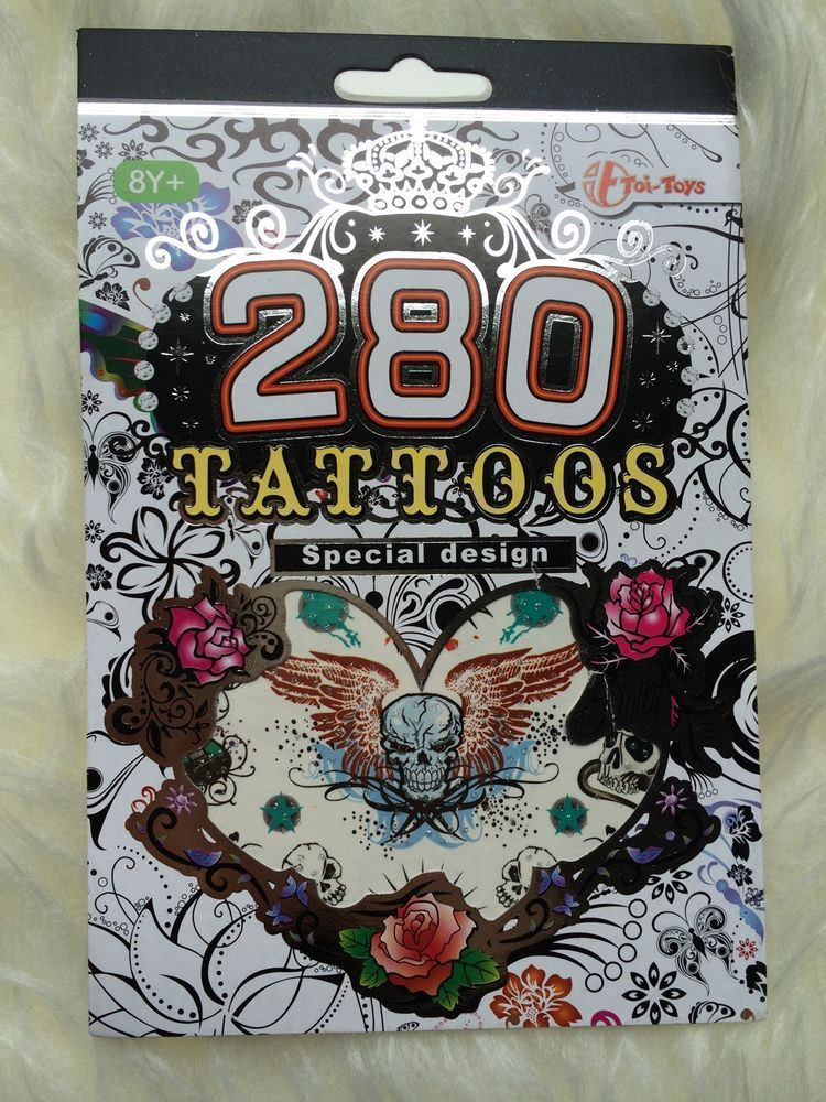 Details Zu 280 Tattoo Aufkleber Sticker Party Geburtstag Tattoo Buch
