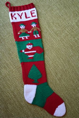 knitted Christmas sock pattern   Knit Christmas stockings ...