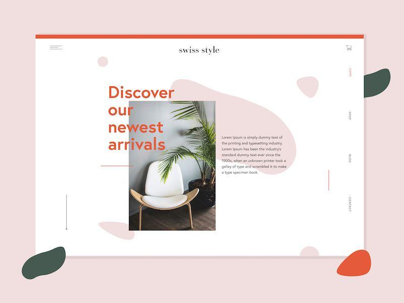 Swiss Style Furniture Company Website Swiss Style Website Design Furniture Website