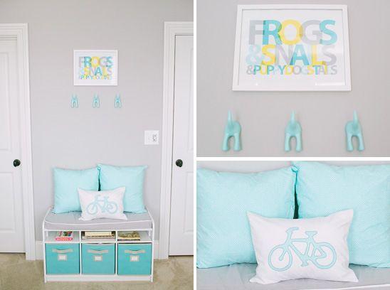 Habitaci n beb azul turquesa y blanco 03 decoraci n for Habitacion blanca y turquesa