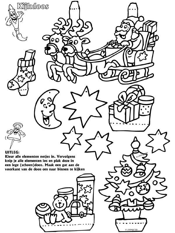 kerst knutselidee 235 n kijkdoos t 233 l 252 nnepekhez 233 s