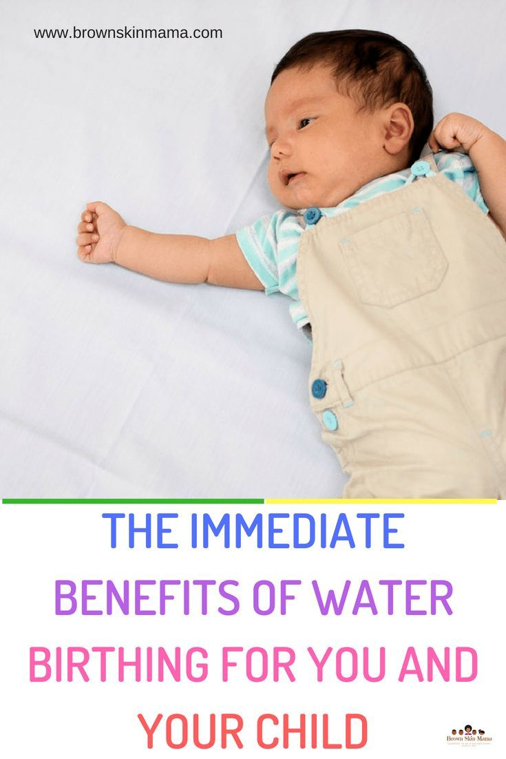 Water birth best form of pain relief'