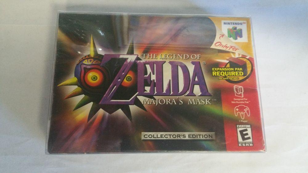 The Legend Of Zelda Majora S Mask Collector S Edition Nintendo 64 N64 New In Box Majoras Mask Zelda Wii Legend Of Zelda