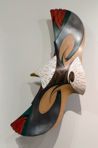 Bald Eagle in Flight by Rex Homan, Māori artist (KR121002)