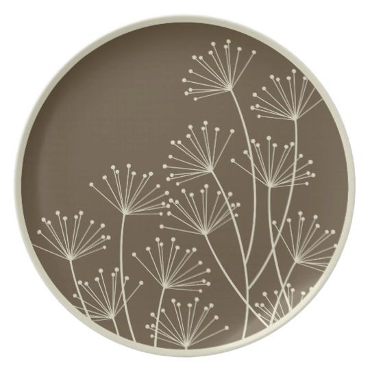 Mod Dandelions, Melamine Tableware / Plate | Zazzle.com #potterypaintingideas