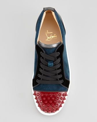8403ffe189a Christian Louboutin Louis Junior Spikes Low-Top Sneaker | Christian ...