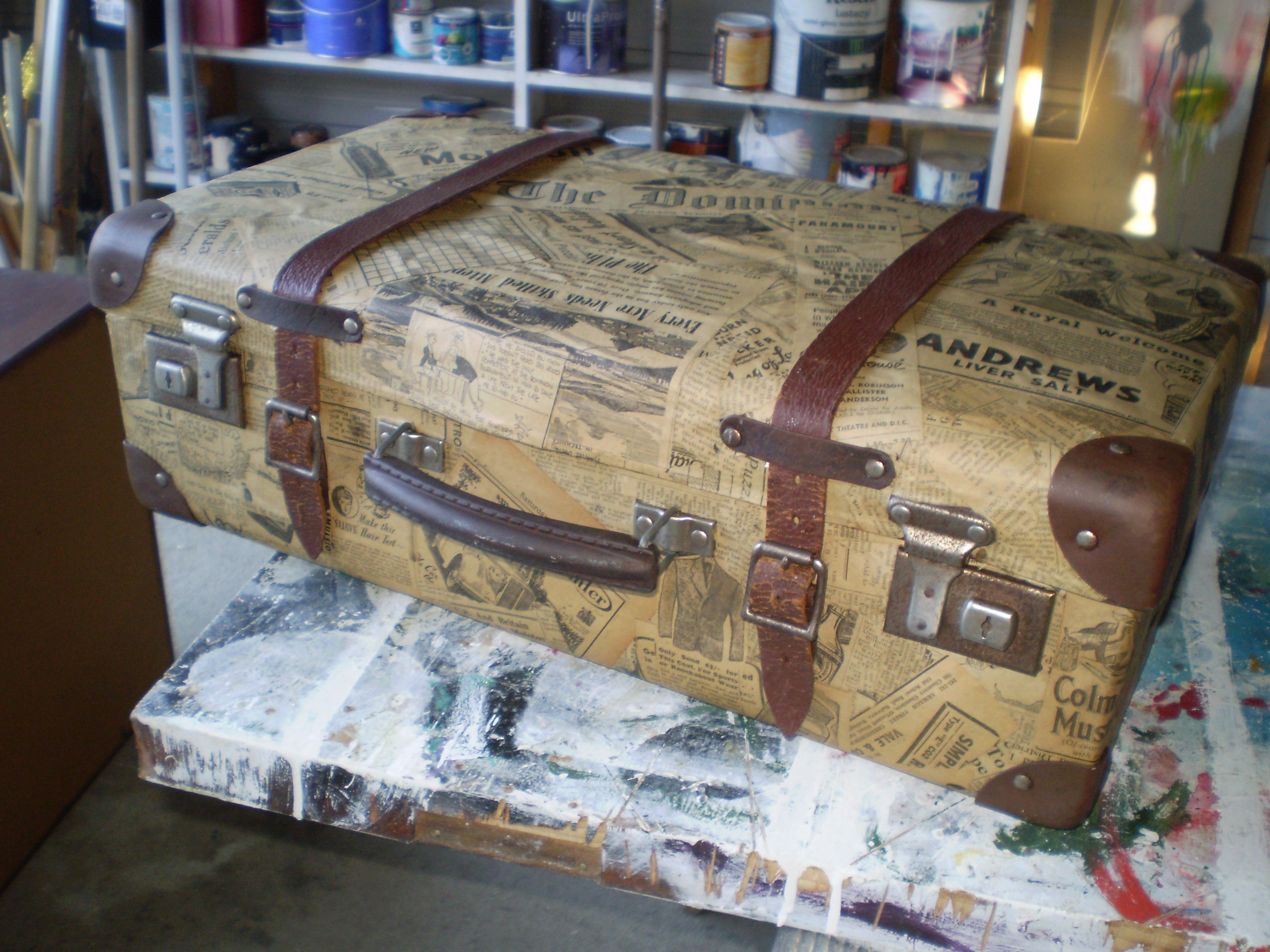Decoupage suitcase                                                                                                                                                                                 More #decopodge