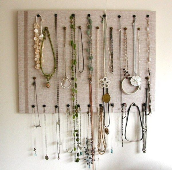 Bulletin Board For Necklaces jewelry organization Pinterest