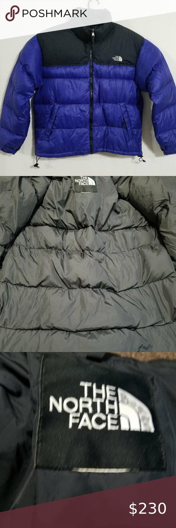 North Face Mens Large Retro Nuptse Jacket Blue L North Face Mens Winter Puffer Coat The North Face [ 1740 x 580 Pixel ]