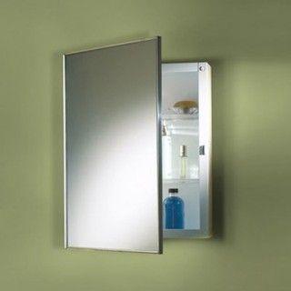 Broan Nutone Styleline Stainless Steel 20w X 30h In Medicine Cabinet 495 Modern Bathroom Wall Cabinets Adjustable Shelving Surface Mount Medicine Cabinet