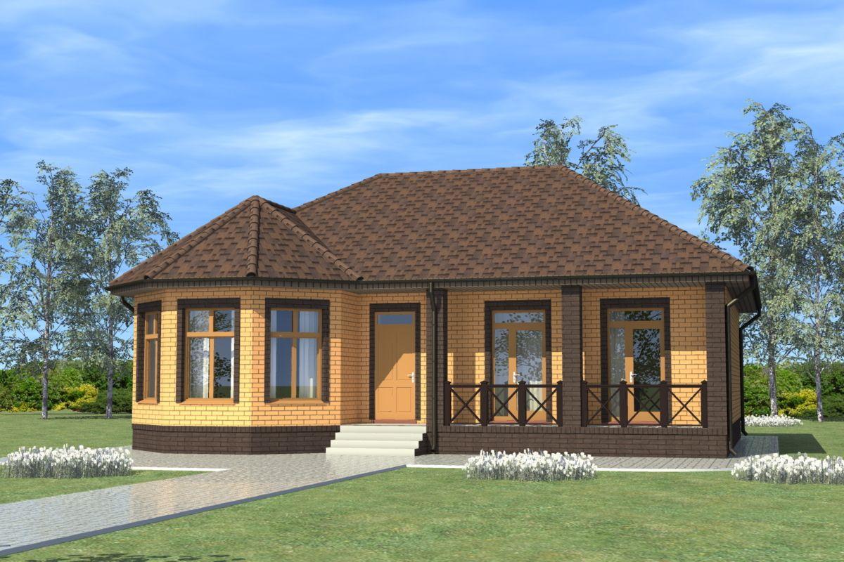 планы одноэтажных кирпичных домов фото дром