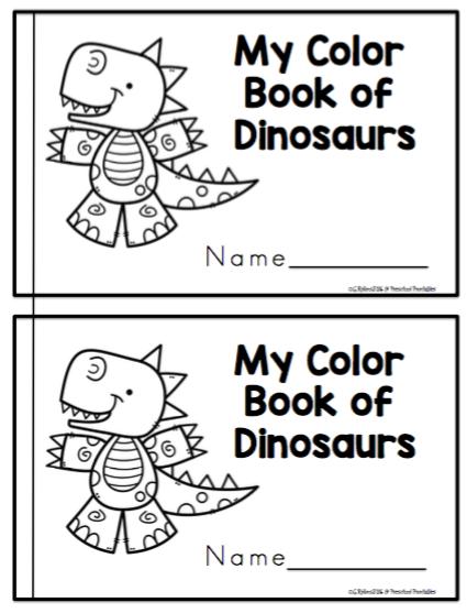 Dinosaur Color Book ~ Preschool Printables   sala de 3   Pinterest