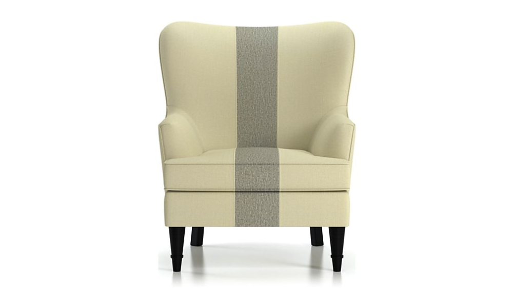 Amherst Striped Chair + Reviews Crate and Barrel