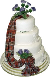 How to incorporate tartan into the cake. And the Scottish flower, the thistle.