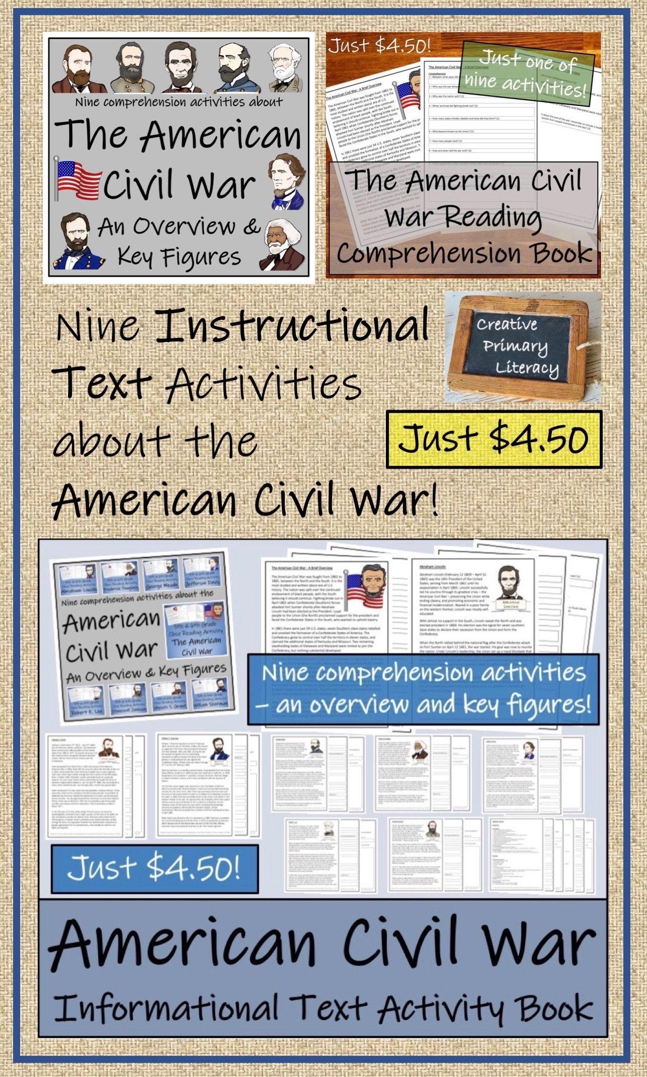 American Civil War 5th Grade Amp 6th Grade Informational