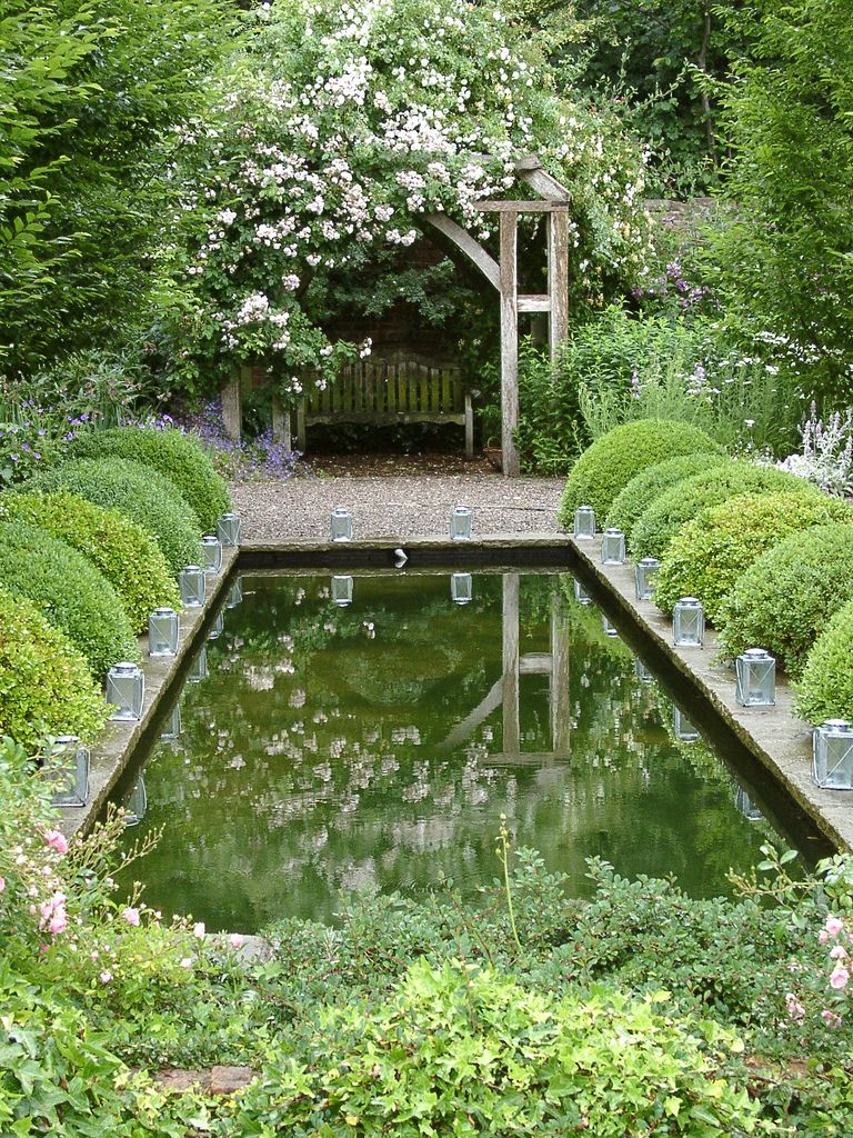 Reflection pond in a classic garden pinned to garden for Garden reflecting pool