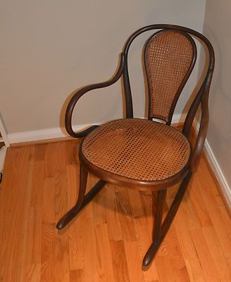 For Sale on eBay - $275 - THONET Childrens's Rocking Chair in Superb Condition -  Local Houston Pick Up Only – 713-816-7400