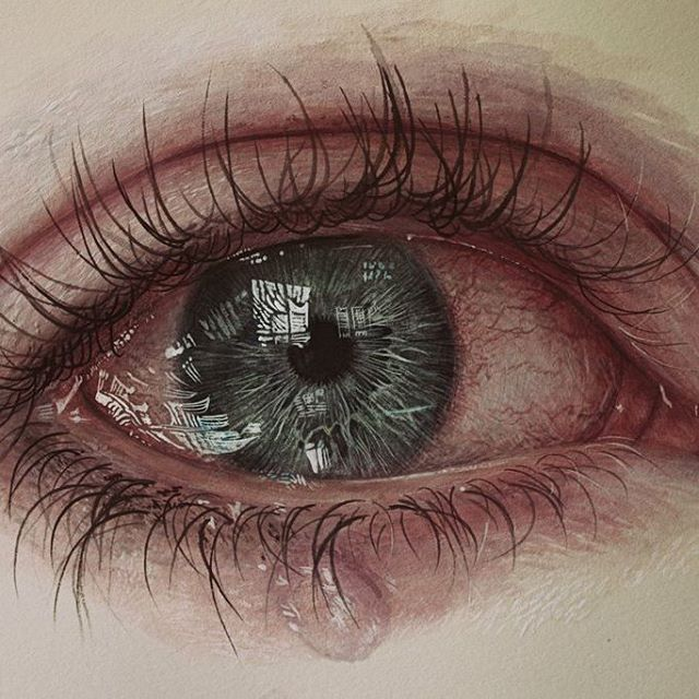 Hyper realistic  Eye painting by Gimmegammi, Medium: Acrylic on herbarium mounting  A verb to this: Perfect! #art #painting #instadaily #picoftheday  #justpaintings #realisticeye
