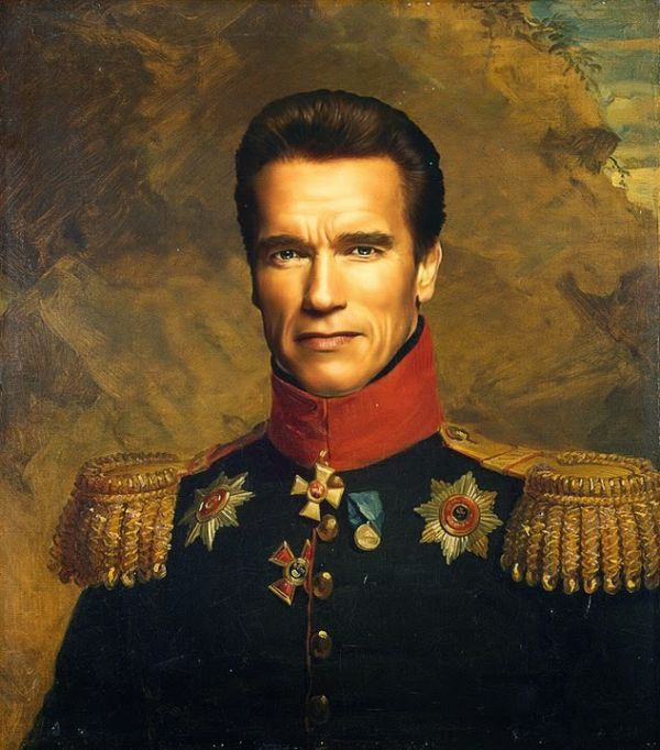 Famous People Painted As Russian Generals Photos