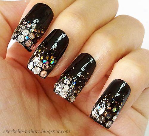 Glamorous Glitter Nail Art Nail Design Nail Idea Funky Nail Art