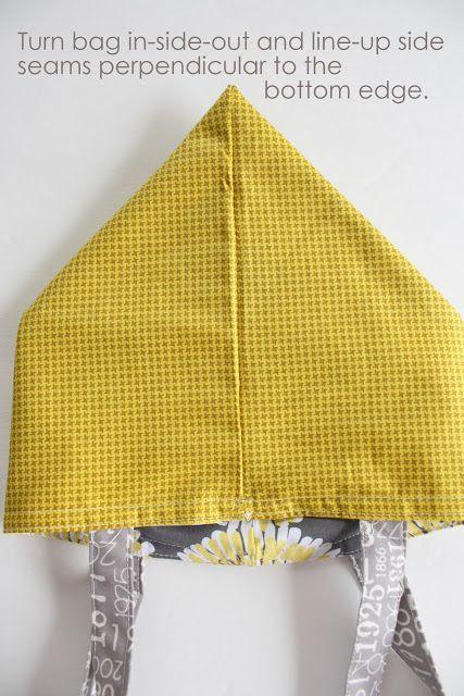 Easy Fat Quarter Bag Tutorial #sewingprojects