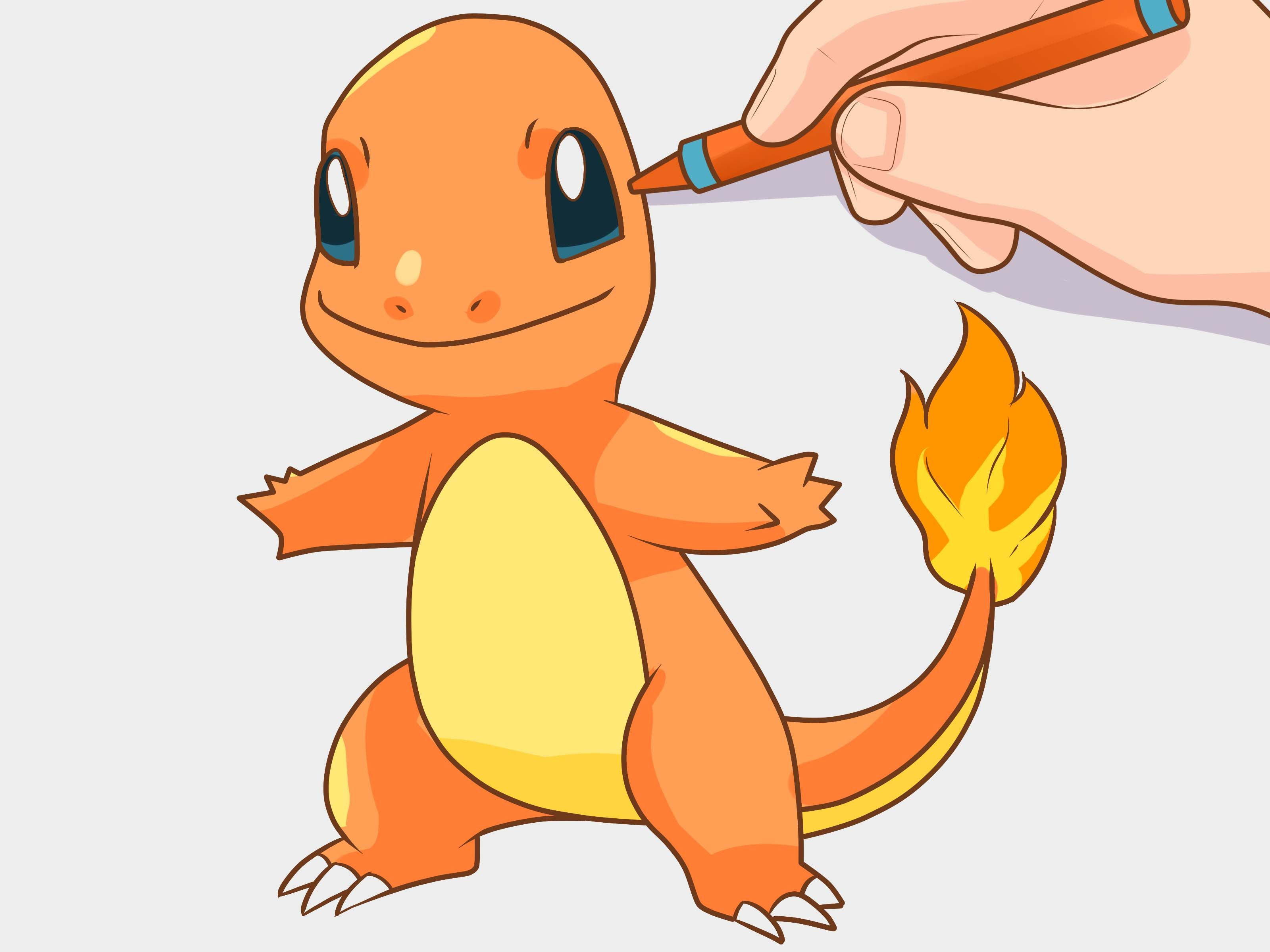 Draw Charmander With Images Charmander Drawing Charmander