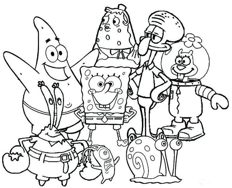 Spongebob Coloring Pages Nickelodeon Cartoon Coloring Pages Spongebob Coloring Spongebob Drawings