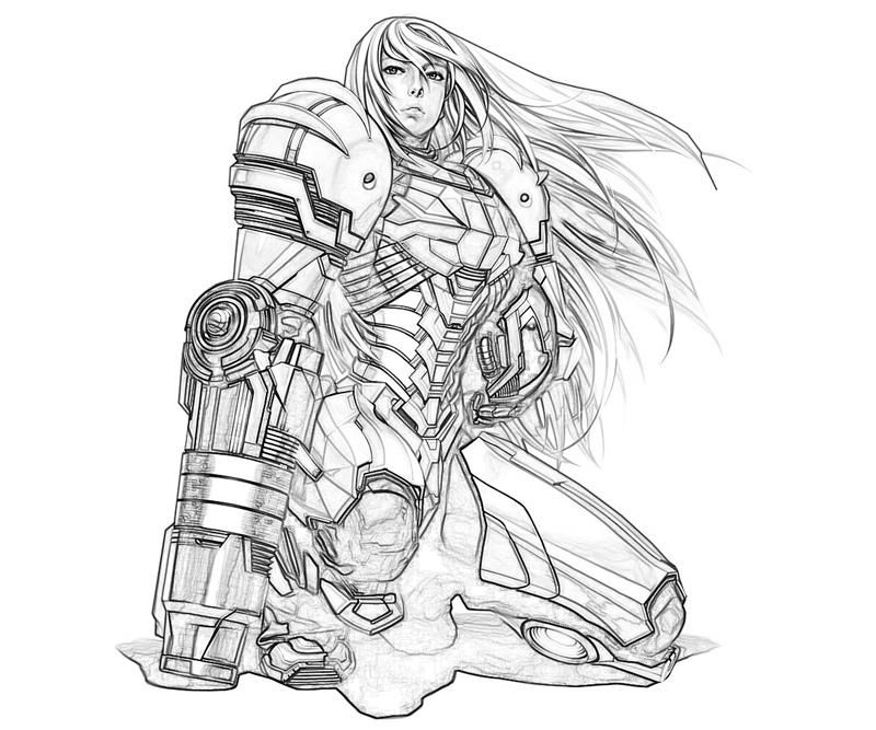 image result for samus coloring page