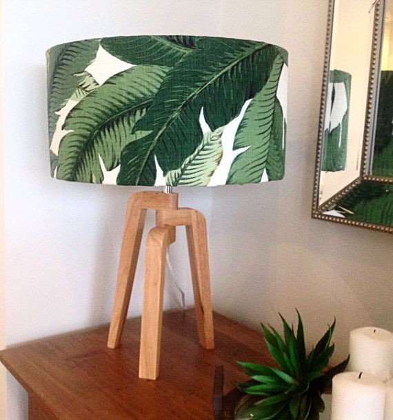 Photo of Lampshade, Lamp Shade, Palms, Palm Leaves Tropical Style, Coastal Decor, Lamp Shade Beach Decor Tropical Decor Barrel Lampshade.