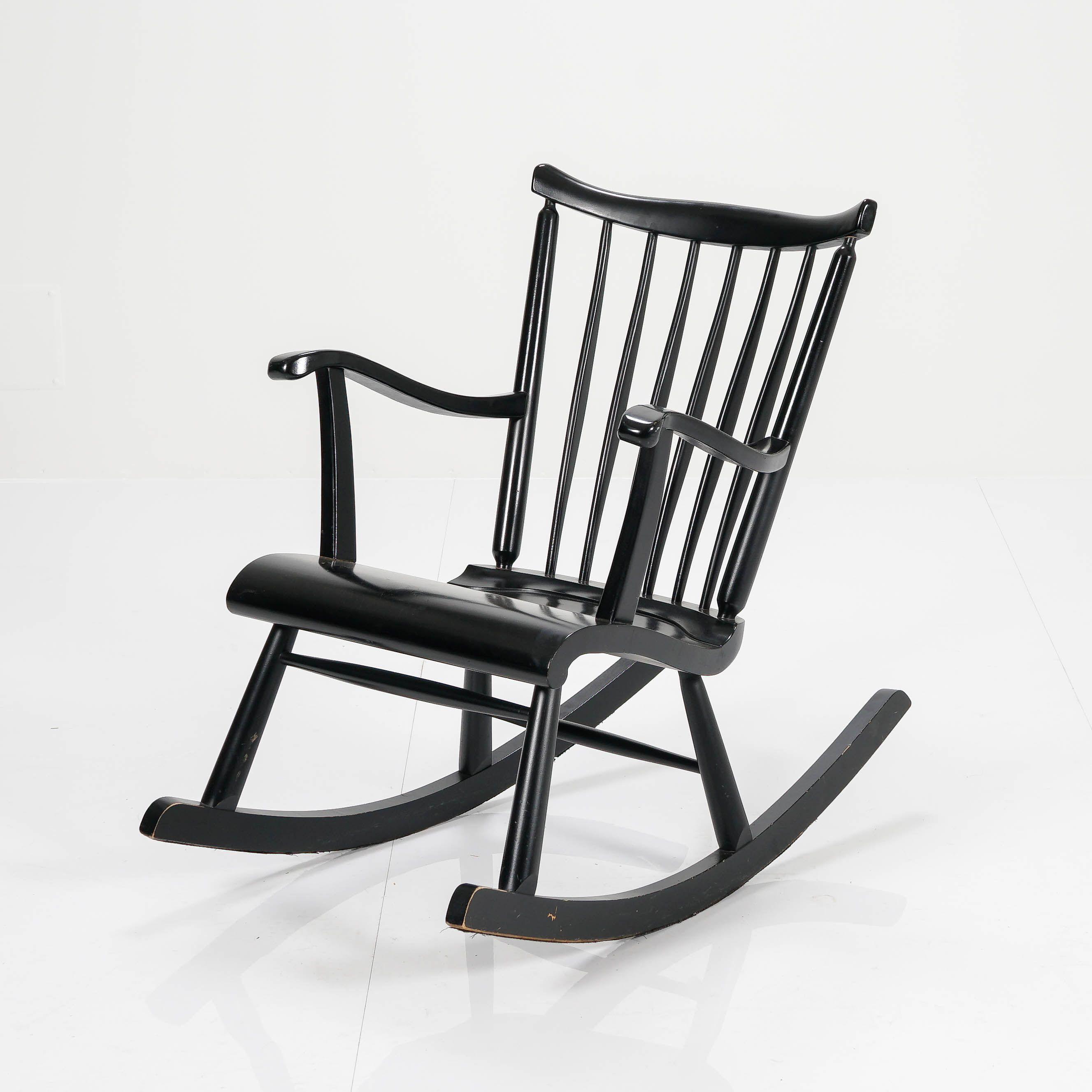 Ilmari Lappalainen, keinutuoli, Seija, ASKO.   Rocking chair