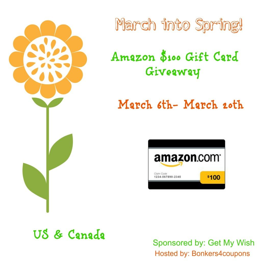 March into Spring 100 Amazon Gift Card Giveaway Amazon