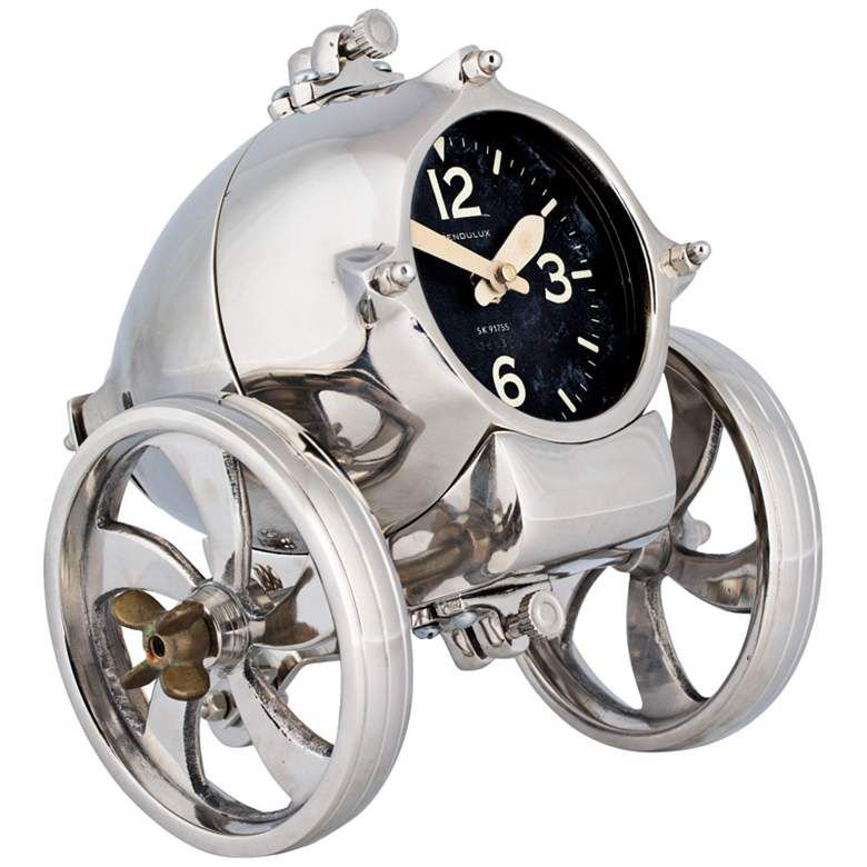 Rover 8 Wide Polished Steam Age Industrial Table Clock 11v57 Lamps Plus In 2020 Table Clock Clock Classic Clocks