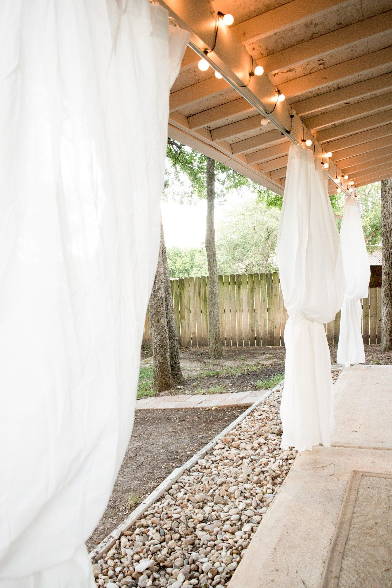 Outdoor Curtains An Inexpensive Ikea Patio Makeover Outdoor Patio Ideas Backyards Outdoor Curtains For Patio Patio Makeover