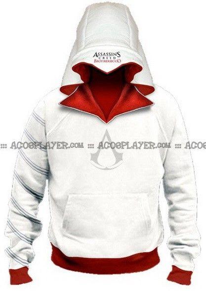 assassins creed brotherhood ezio hoodie costume assassin\u0027s creed  assassins creed brotherhood ezio hoodie costume assassin\u0027s creed desmond, gamer hoodies, sweatshirts, totally