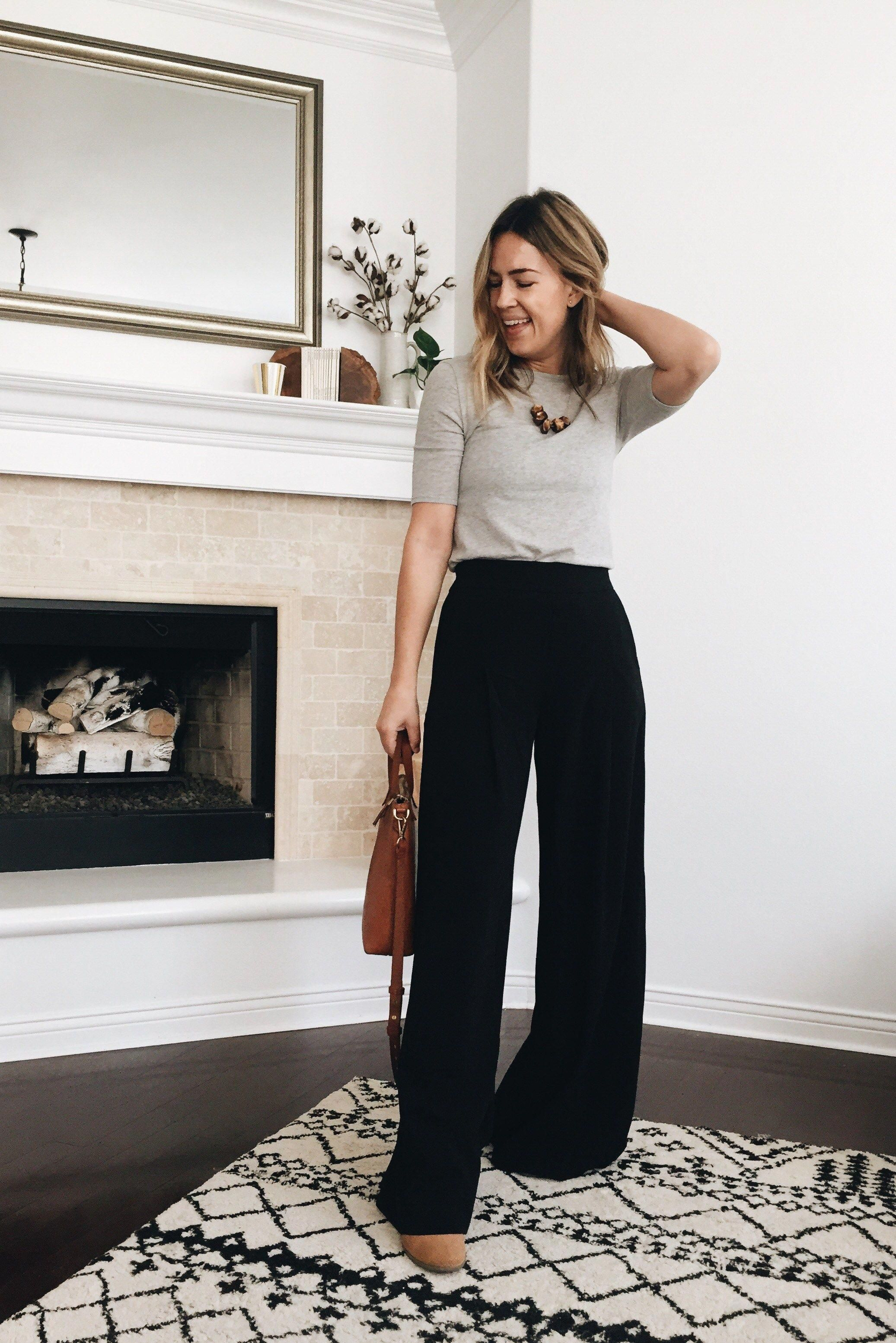 Work Outfits On A Budget Workoutfits Stylish Summer Outfits Wide Pants Outfit Wide Leg Trousers Outfit